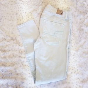 American Eagle Outfitters | Mint Mid-Rise Jeggings